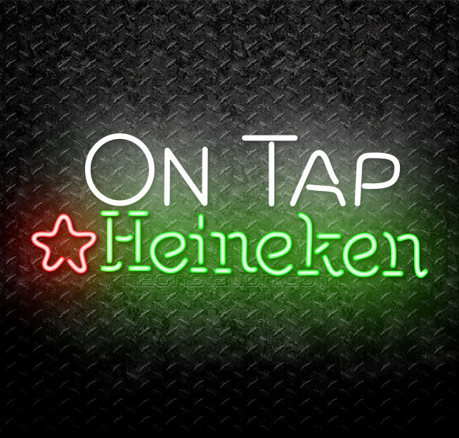 On Tap Heineken Neon Sign
