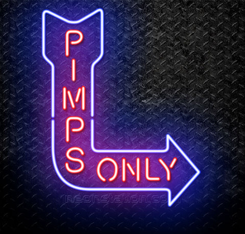 Kendrick Lamar Pimps Only Neon Sign