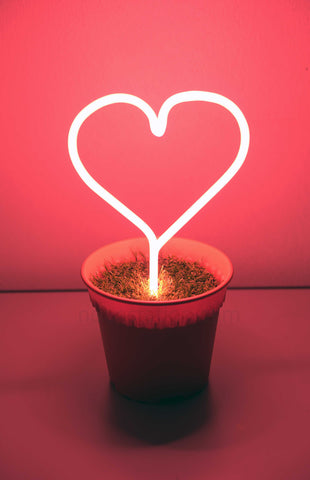Potted Plant Love Neon Sign