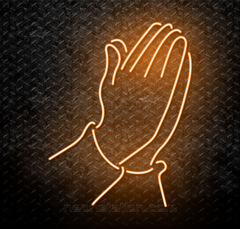 Praying Hand Neon Sign