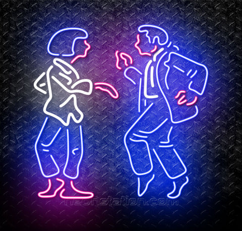 Pulp Fiction Mia and Vincent Dancing Scene Neon Sign