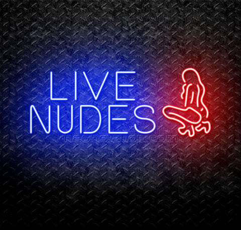 Red Live Nudes Neon Sign