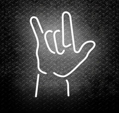 Rock And Roll Hand Gesture Neon Sign