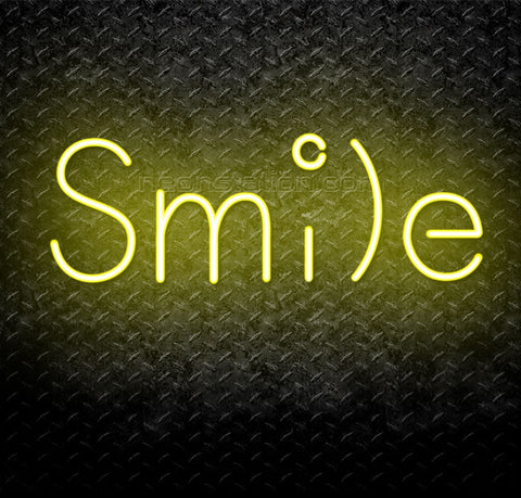Smile Emoji Face Neon Sign