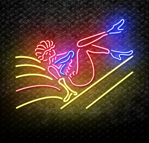 Strip Girl Logo Neon Sign