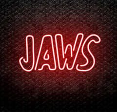 Jaws Neon Sign