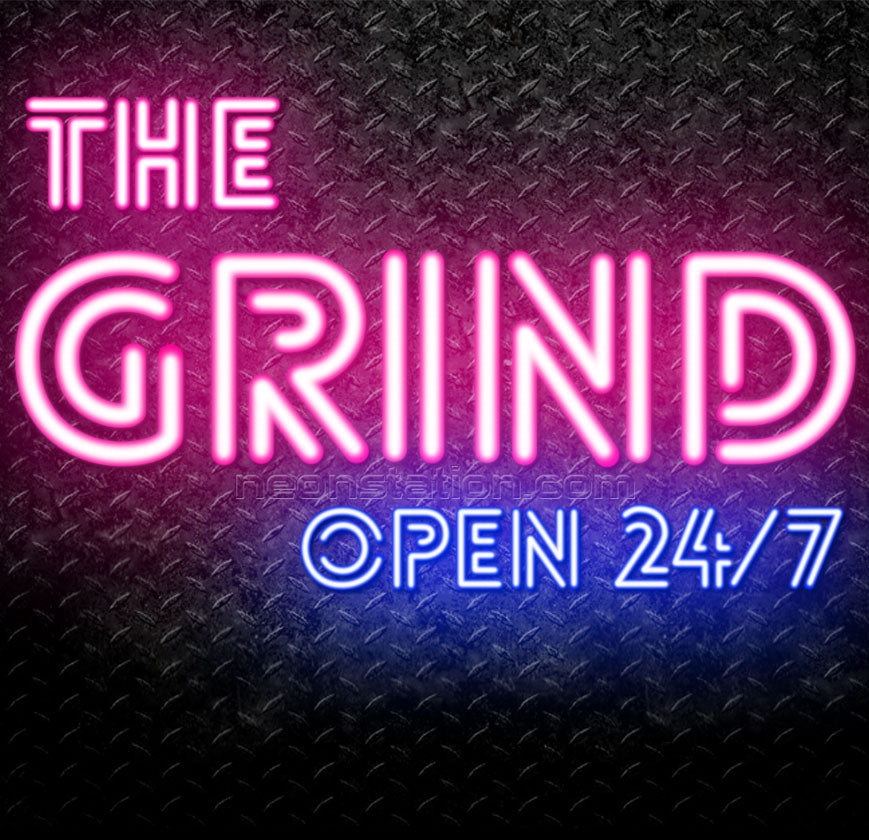 Custom The Grind Neon Sign Neon Sign