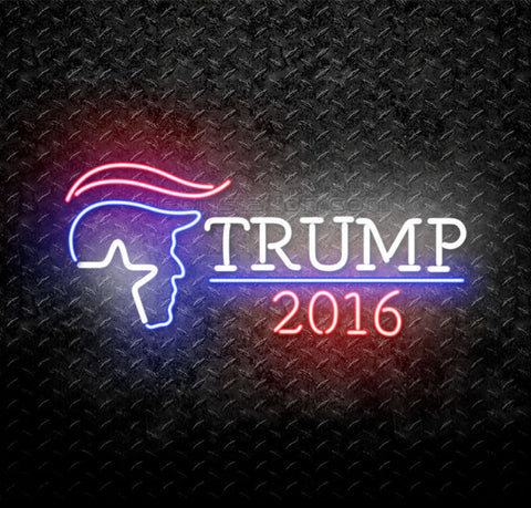 Donald Trump for President 2016 Neon Sign