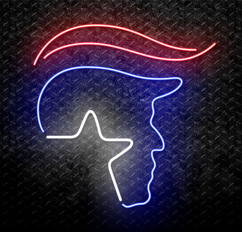 Donald Trump Logo Neon Sign