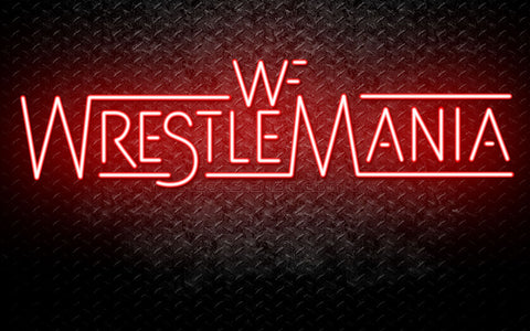 WWE Wrestle Mania Neon Sign