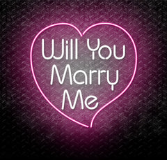 Will You Marry Me Neon Sign