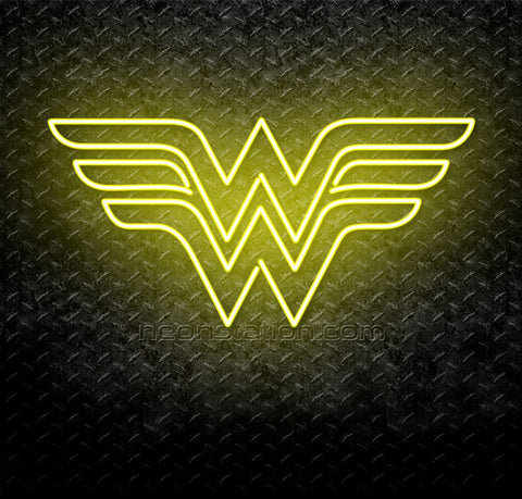 Wonder Woman Logo Neon Sign