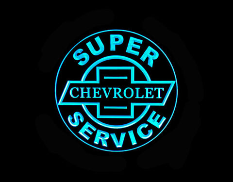 Super Chevrolet Chevy Service LED Sign