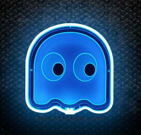 Pacman Ghost Inky 3D Neon Sign