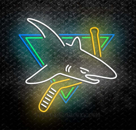 "NHL San Jose Sharks Neon Sign 17"" x 15"" 