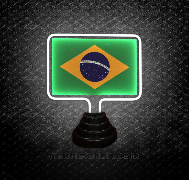 Brazil Flag Table Top Neon Sign | Neonstation