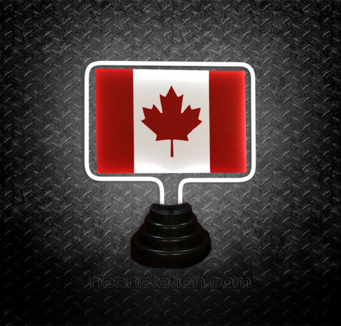 Canada Flag Table Top Neon Sign | Neonstation