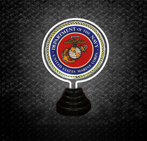 US Marine Corps Navy Table Top Neon Sign | Neonstation