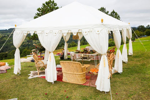 white arabian raj tent for hire gold coast