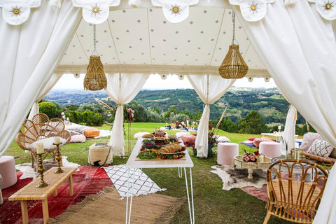 wedding setup for summer grove estate and exotic soirees luxury marquee hire