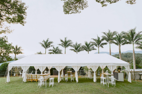 luxury white marquee for weddings and corporate