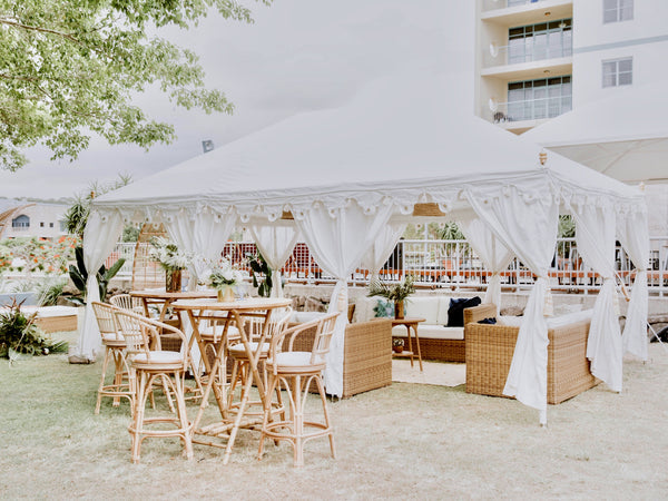 luxury white wedding marquee