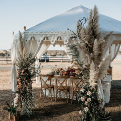 wedding florals and luxury marquee from exotic soirees marquee hire brisbane