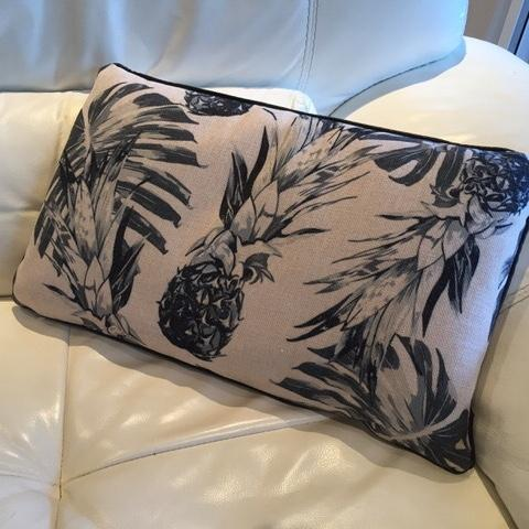 Cushions and pineapples