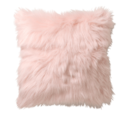 pink fluffy cushion for hire