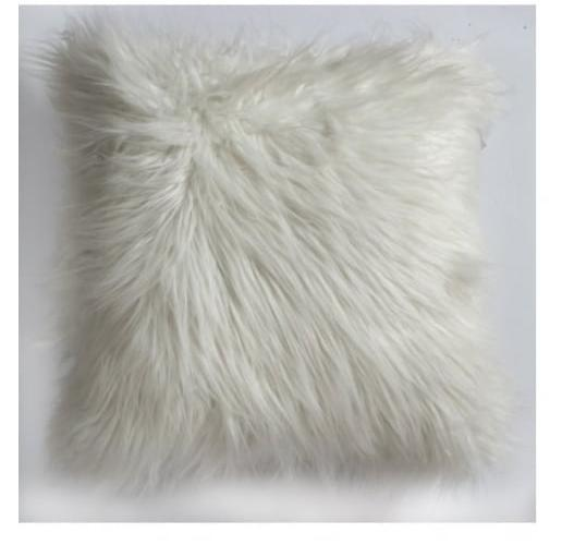 White fluffy cushion for hire
