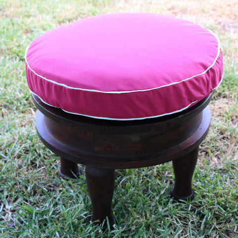 Round Wooden Stool indian moroccan for hire events furniture