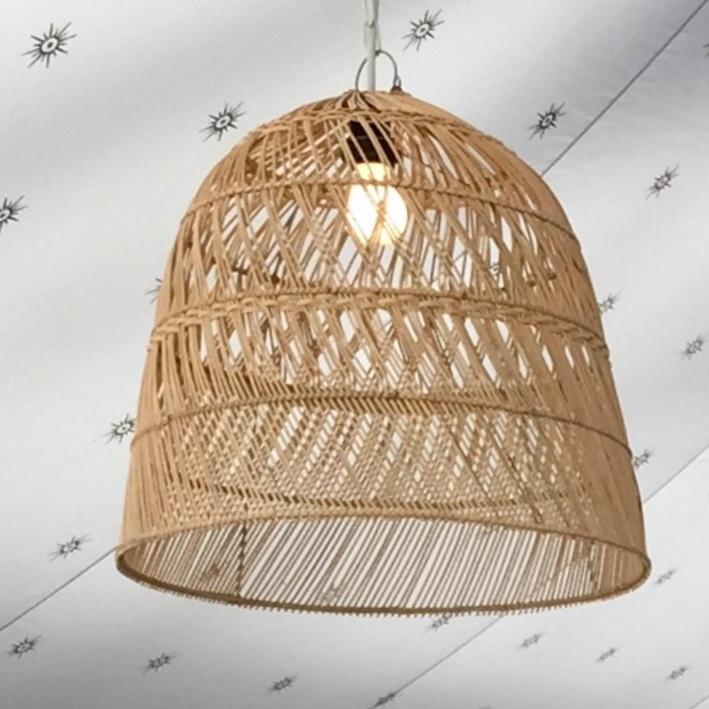 cane wicker lamp shades to hire