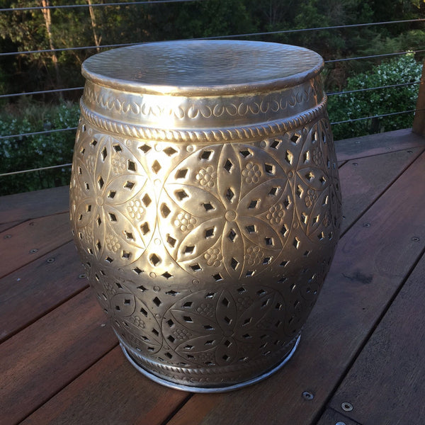Round Silver Gold Stool 40cm