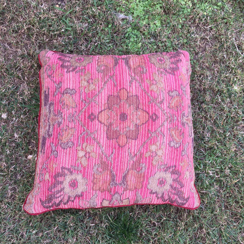 marrakesh bollywood party cushion in pink and red hues for hire from exotic soirees