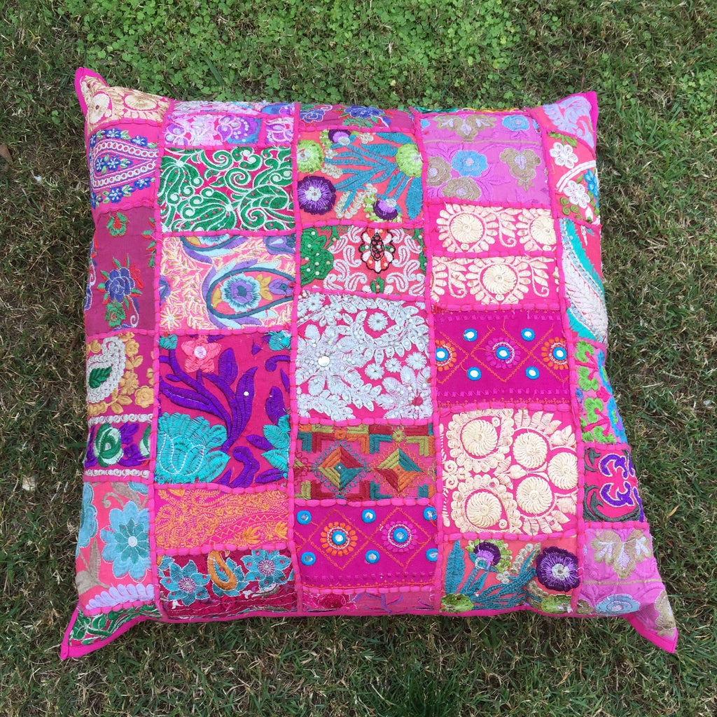 multi coloured square bollywood floor cushion for hire from exotic soirees gold coast and brisbane