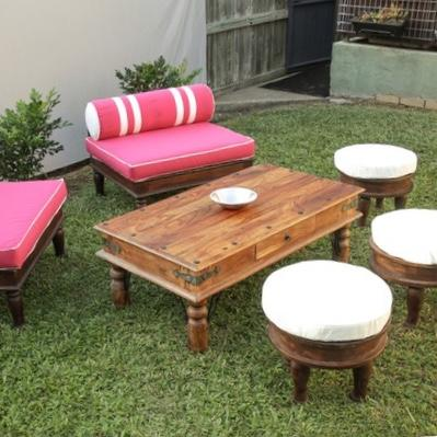 bohemian indian furniture setting for hire from exotic soirees luxury marquee hire on the gold coast and sydney