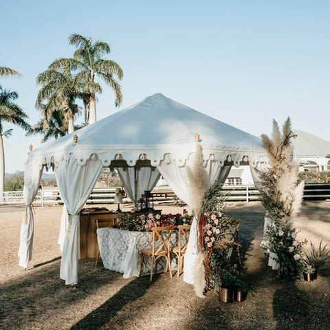 white wedding pavilion marquee styled shoot exotic gold coast