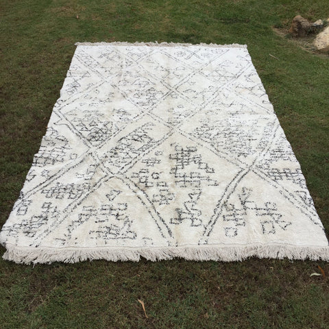 Soft white, ivory and black cotton rug for hire on the Gold Coast and Brisbane