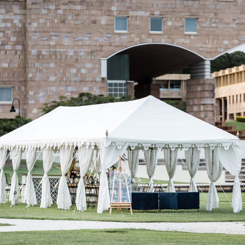stunning white tent marquee on grass for weddings and engagements