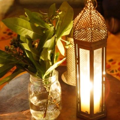 gold lantern and candle for hire from exotic soirees luxury marquees tents on the gold coast and brisbane for parties, birthdays, dinners, events, engagements, proposals