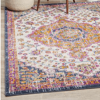 Bright arabian indian rug