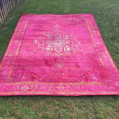 pink arabian boho large floor rug