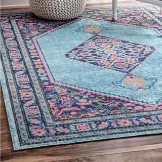 blue vintage worn and distressed persian rug for hire gold coast and brisbane through exotic soirees marquees