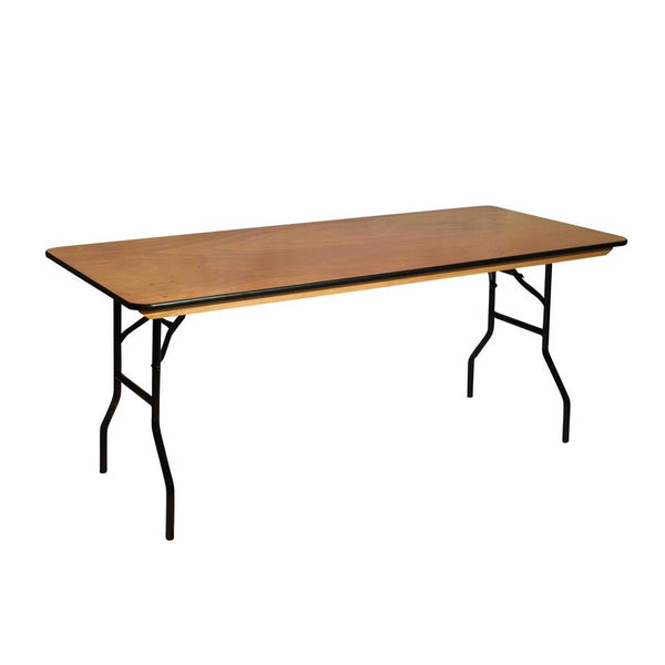 wooden trestle table to hire gold coast
