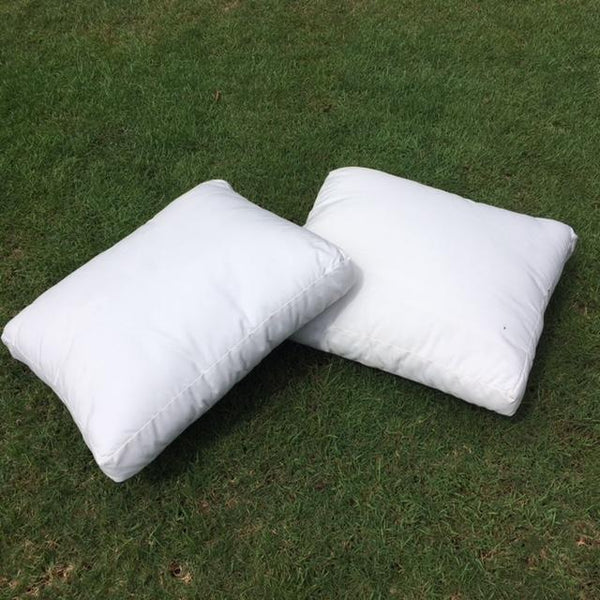 pure white cushions to hire for weddings gold coast brisbane