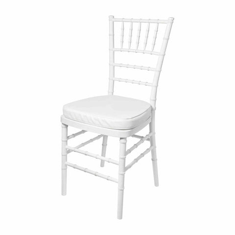 white resin tiffany chair for hire for weddings, functions, events from exotic soirees marquee hire gold coast