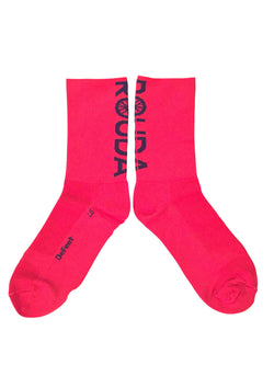 red cycling socks