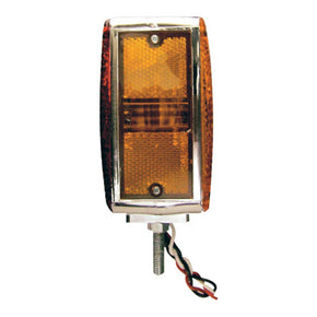 2322C - Square Turn Signal Light, KW lens, 2 Screw & Chromed Base (12V)