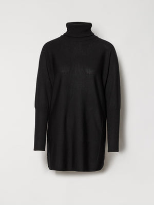 Load image into Gallery viewer, CATHRINE HAMMEL WIDE TURTLENECK BLACK