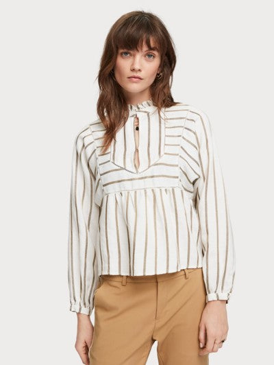 SCOTCH&SODA METALLIC STRIPE TUNIC 0596